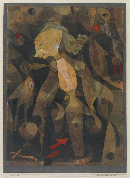 A Young Lady's Adventure 1922 by Paul Klee 1879-1940